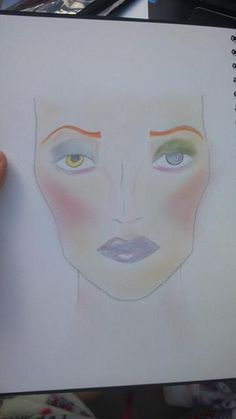 facechart before the lashes