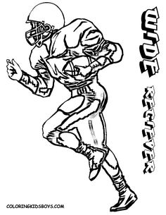 Be In A Hurry For Gridiron Football Coloring Sheets Boys Free Cool Player Pages Joe Foster Detroit Lions