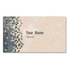 Hologram Sequin Makeup Artist Business Cards. Make your own business card with this great design. All you need is to add your info to this template. Click the image to try it out!