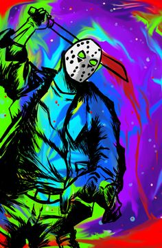 An 11 x 17 print featuring my drawing of Jason Voorhees from Friday the 13th. Please specify in the variations if you would like the print to be signed.