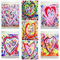 1st/2nd/3rd: Jim Dine inspired hearts. valentines. AtR