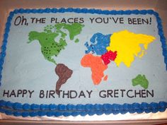 World Map — Birthday Cake Photos
