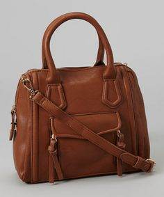 Love this Brown Butter Satchel by Pink Cosmo on #zulily! #zulilyfinds