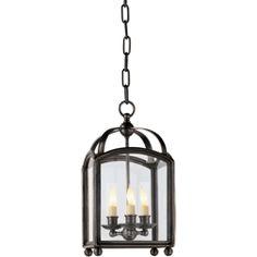 Visual Comfort E.F. Chapman Arch Top Mini Lantern in Bronze CHC3420BZ