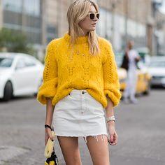 Главная звезда Instagram этого лета: мохеровый пуловер Ganni | Журнал Harper's Bazaar