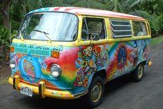 Grateful dead bears on a hippie van. Gahh my dream!
