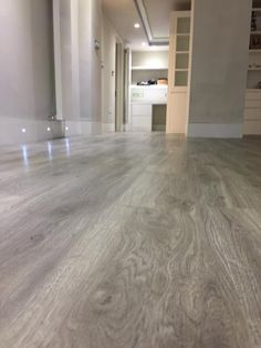 Amtico Grey Wood Flooring to Premises in South London Karndean Flooring, Hall Flooring, Diy Flooring, Wooden Flooring, Kitchen Flooring, Grey Wooden Floor, Living Room Hardwood Floors, Floor Colors, New Homes