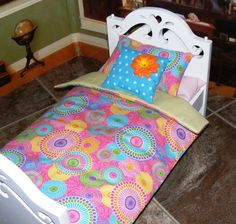 Hey, I found this really awesome Etsy listing at https://www.etsy.com/listing/130597218/3-pc-doll-bedding-for-18-american-girl