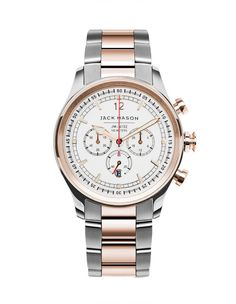 Two-Tone Rose Gold & Stainless Steel Chronograph Watch