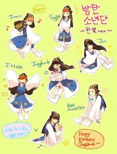 Resultado de imagen para bts anime