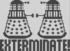 Dalek Faceoff Doctor Who Cross Stitch by GeekcraftAndCookies