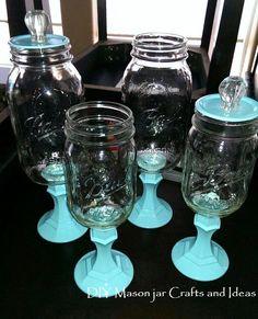 Ideas Birthday Party Ideas Diy Dollar Stores Mason Jars For 2019 Pot Mason Diy, Mason Jars, Apothecary Jars, Glass Jars, Canning Jars, Wine Glass, Sea Glass, Mason Jar Projects, Mason Jar Crafts