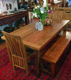 "Teak Dining Table 36"" X 72"" X 2"" Thick  Mediterranean  Dining Impressive Teak Dining Room Furniture Inspiration Design"