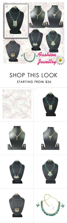 """""""Traditional Ethnic Thewa Necklace Earring Set"""" by era-chandok ❤ liked on Polyvore"""