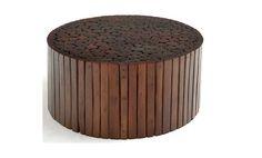Teak-Rustic-Round-Coffee-Tables - funicraze.com