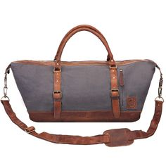 Large Weekend Duffle in Grey Canvas from MAHI  409fee7a82312