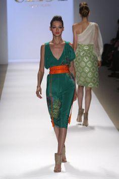 Tibi - Great green & orange accessory