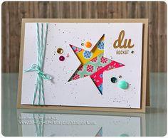 Handgefertigte Karte | handmade card - Washi, Dani Peuss / Klartext, MFT die-namics Star Stax