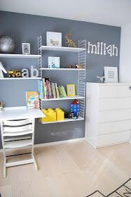 FargeBarn: To fine gutterom. Lego Bedroom, Baby Bedroom, Kids Bedroom, Ikea Living Room, Modern Kitchen Design, Kid Spaces, Room Inspiration, Shelving, Furniture