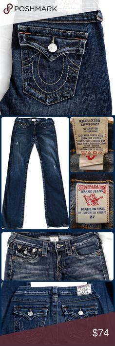 Spotted while shopping on Poshmark: Sz 27 True Religion Jeans, Distressed Straight Leg! #poshmark #fashion #shopping #style #True Religion #Denim