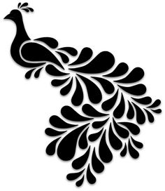 New Bird Silhouette Design 39 Ideas Stencil Patterns, Stencil Designs, Paint Designs, Bird Stencil, Stencil Art, Rose Tattoo Stencil, Damask Stencil, Bird Silhouette Art, Silhouette Design
