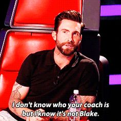 When Adam wasn't in the mood for Blake's tears.