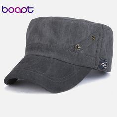 11123550b07  boapt  new vintage solid cotton summer casual female baseball cap for men  flat top