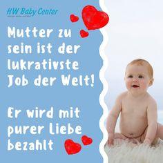 💕Mutter zu sein ist der lukrativste Job der Welt!  Er wird mit purer Liebe bezahlt 💕  #babyshop #baby #babyshower #babylove #babyfashion #kinderwagen #babycarrier #schwanger #schwangerschaft #geburt #momlife #stroller #babybauch #pregnant #baldmama #mama #instamama #nuggi #schnuller #newborn #instamom #schwanger2020 #elternsein #baldeltern Baby Center, Instagram, Pacifiers, Pram Sets, Pregnancy, Birth, World, Love, Nursery Nook