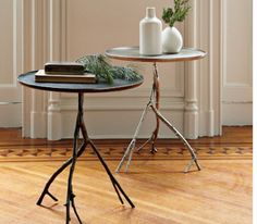 autumn centrepiece display ideas, side table, tray
