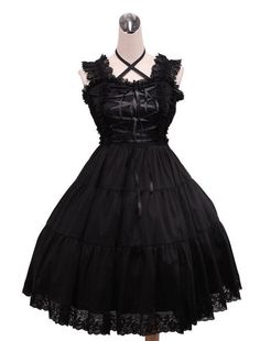 #Gothic-lolita dress. Simple, sexy and a statement