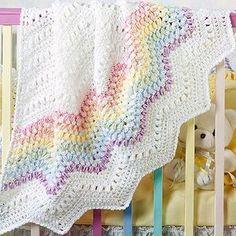 Gumdrop Ripple Baby Afghan Crochet Pattern ePattern by Debbie L. Wheeler