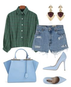 """Casual"" by lourdes-gio on Polyvore featuring Fendi, Levi's, White House Black Market and Norma J.Baker"