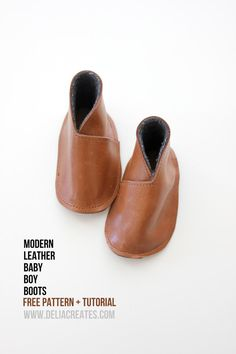 DIY Shoes : DIY Leather Baby Boy Boots Takes a while to get to the tutorial, but it is there