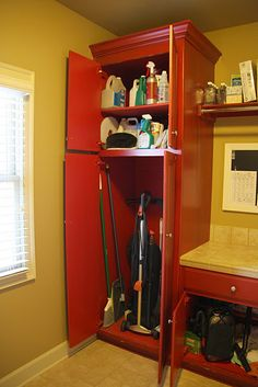 Broom closet idea http://www.pinterest.com/source/besimplyorganized.blogspot.ca/