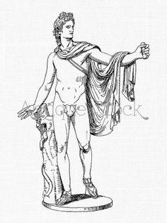 Apollo God Antique Image