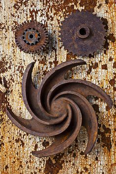 Rusty Gears Photograph by Garry Gay - Rusty Gears Fine Art Prints and Posters for Sale Rust Never Sleeps, Aging Metal, Rust In Peace, Peeling Paint, Rusty Metal, Funny Art, Wabi Sabi, Metal Art, Garden Art