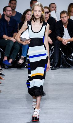 2017 trends LOUD STRIPES A model walks the runway at the Proenza Schouler Ready to Wear Spring Summer 2017 fashion show during New York Fashion Week