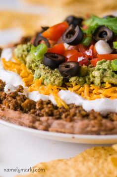 Vegan 7-Layer Dip is a perfect easy appetizer that no one will ever know is vegan!
