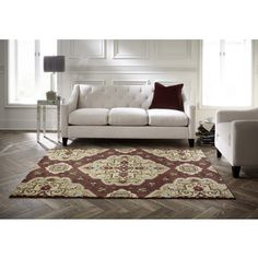 Shop for Spaces by Welspun Traditional Floral Medallion Red Area Rug (2' x 5'). Free Shipping on orders over $45 at Overstock.com - Your Online Home Decor Outlet Store! Get 5% in rewards with Club O!