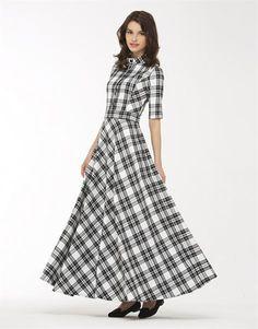 Платье в клетку макси
