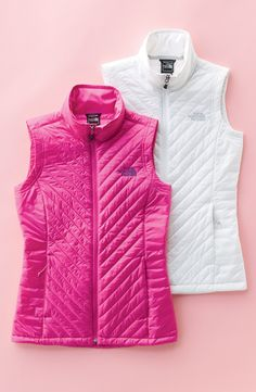 North Face vests are a winter staple.