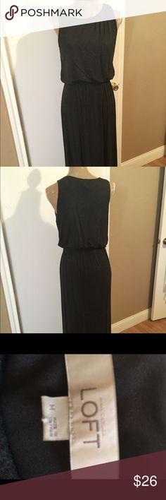 Maxi Dark Gray Knit Dress Maxi Dark Gray Knit Dress LOFT Dresses Maxi