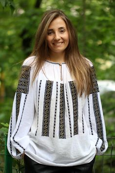 Ie Românească Aura - Chic Roumaine Folk Costume, Costumes, Sweater Shirt, Dress Collection, Vintage Outfits, Fashion Outfits, Clothes For Women, How To Wear, Shirts