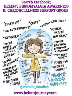 Click to read a list of ways we can look after our mental health, esp if we suffer from chronic illness! (Cartoon by @wonder_doodles) #mentalhealthhelp #mentalhealth #chronicillness #chronicpain #spoonies #worldmentalhealthday #WMHD #fibromyalgiaandmentalhealth #mentalhealthresources #fibromyalgia #fibro #negativetalk #selfhelp #negativethinking #positivethinking Mental Health Facts, Mental Health Foundation, Mental Health Resources, Health Blogs, Mental Health Awareness Month, Facebook Support, Thing 1, Negative Self Talk, Chronic Illness