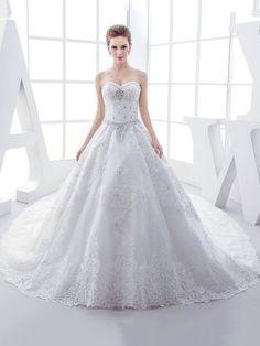 Nice Beading Appliques Lace Sweetheart A Line Chapel Wedding Dress u modest Wedding Dresses