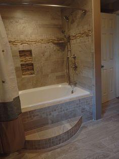 10 best bathroom tile images | tile around bathtub