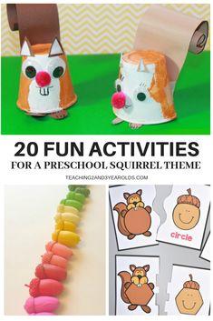 20 Fun Activities for a Preschool Squirrel Theme