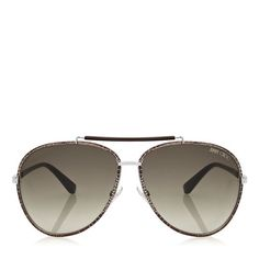 Gold Metal Framed Sunglasses | Designer Aviators | Francoise | JIMMY CHOO Sunglasses... www.mymariettavision.com