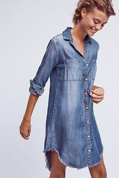 Fringed Chambray But
