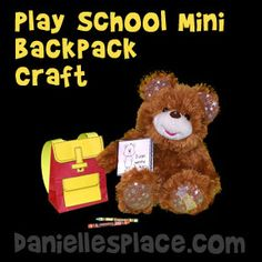Mini Backpack To Play School Craft From Daniellesplace